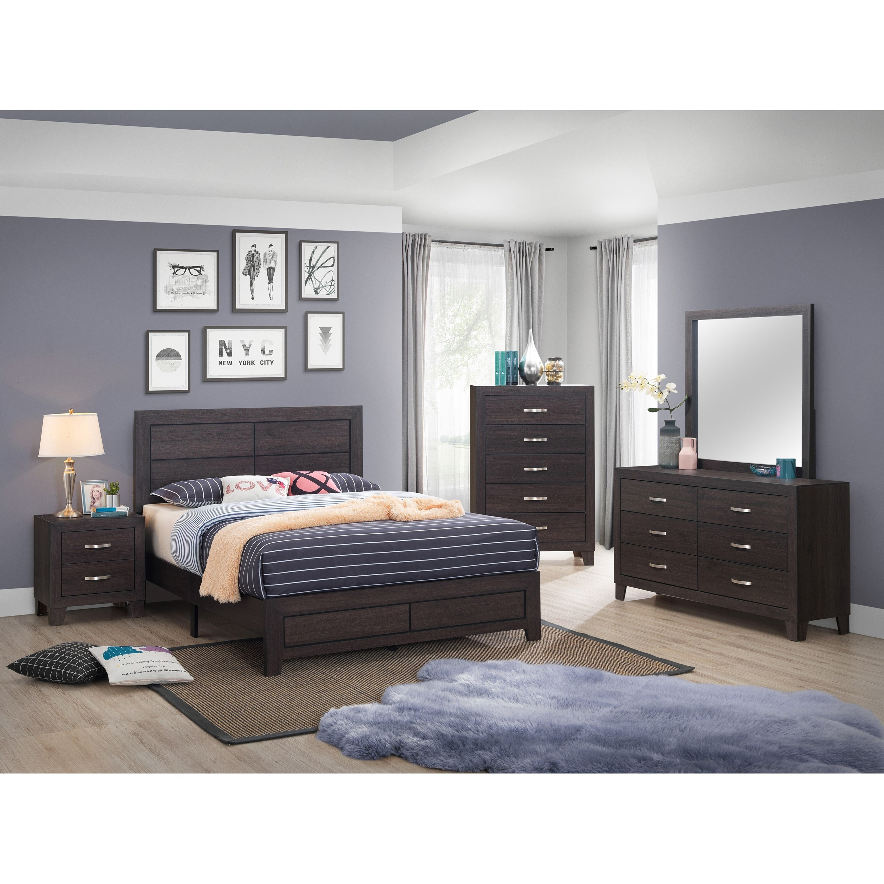 Hopkins Queen Bedroom Group by Crown Mark at Northeast Factory Direct