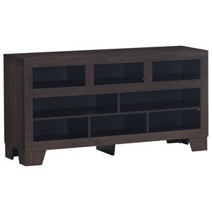 Contemporary TV Stand with 8 Storage Compartments