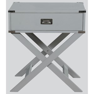 Contemporary Chairside Table with Drawer