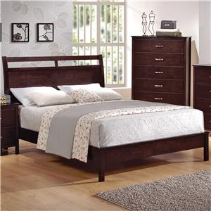 King Low-Profile Bed with Cutout Headboard