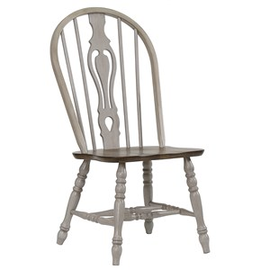 Relaxed Vintage Keyhole Dining Side Chair