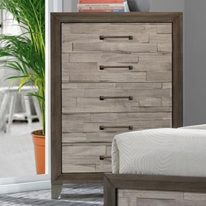 Contemporary Rustic Five Drawer Chest