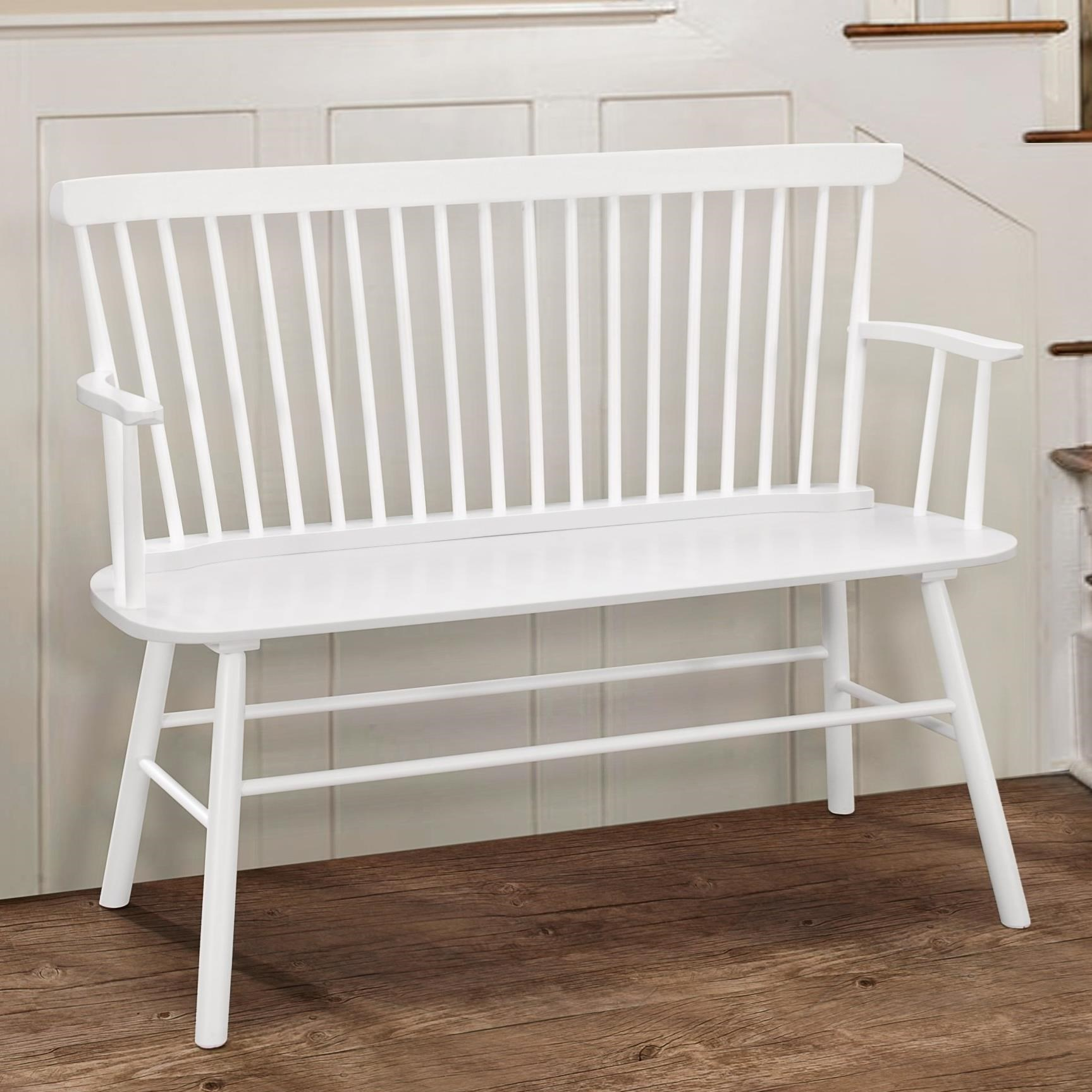 Jerimiah Spindle Back Bench  by Crown Mark at Northeast Factory Direct
