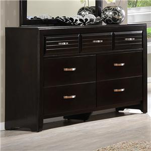 Rectangular Dresser with 7 Drawers