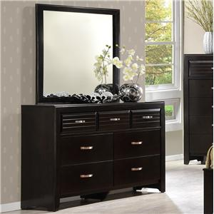 7 Drawer Dresser & Framed Mirror