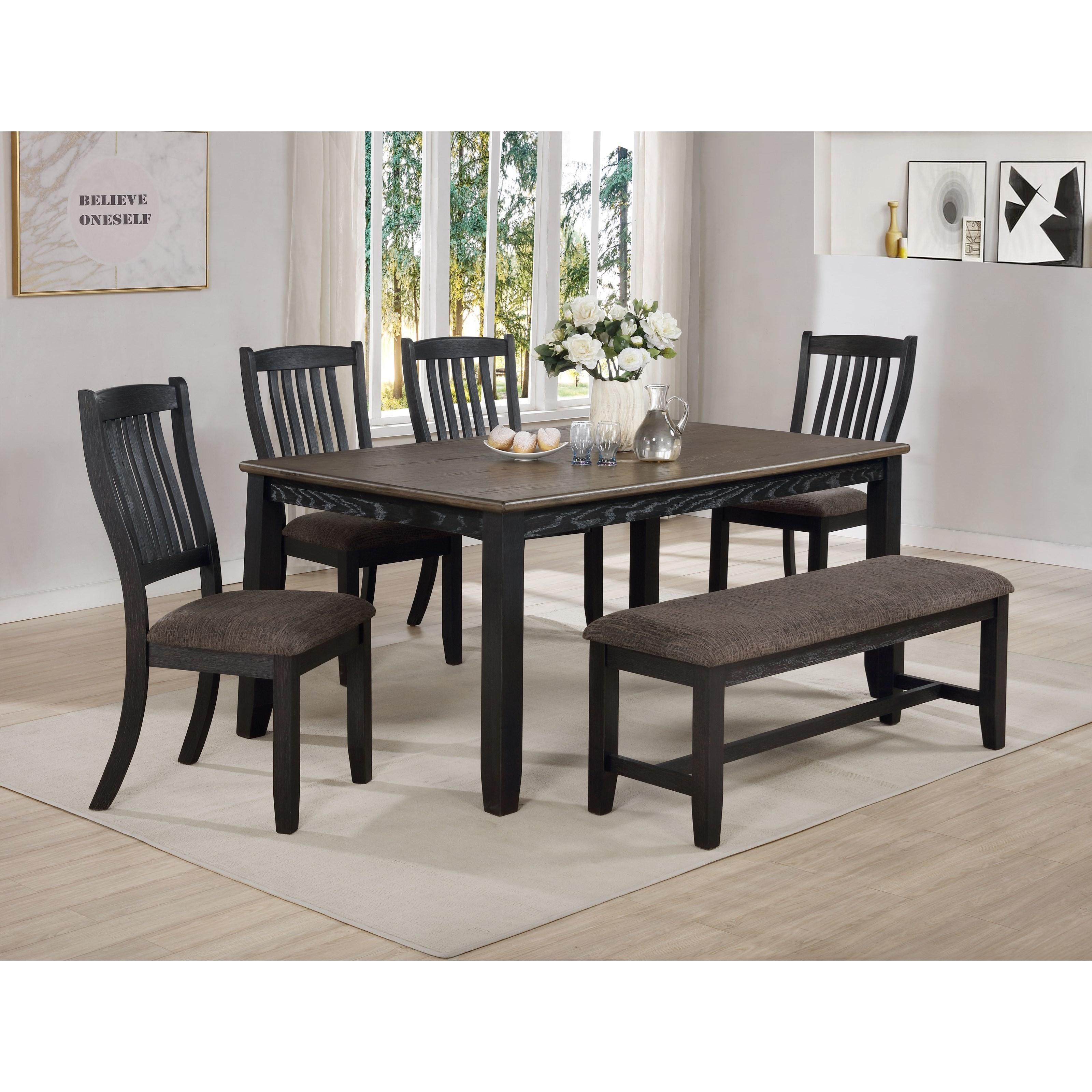 Jorie Table Set with Bench by Crown Mark at Northeast Factory Direct