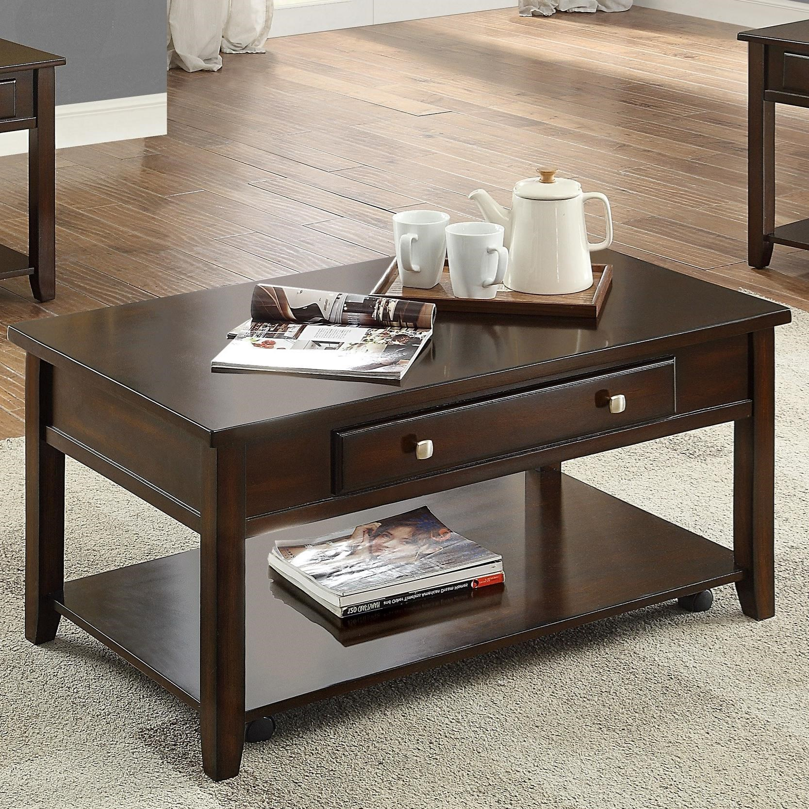 Julian Lift Top Coffee Table by Crown Mark at Northeast Factory Direct