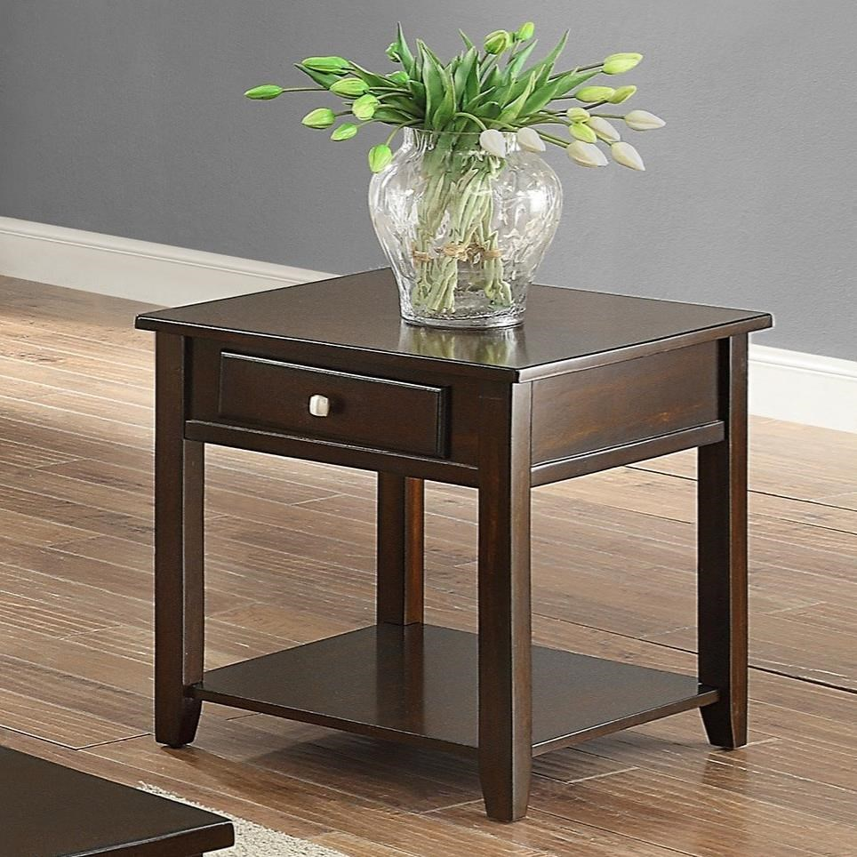Julian End Table by Crown Mark at Northeast Factory Direct