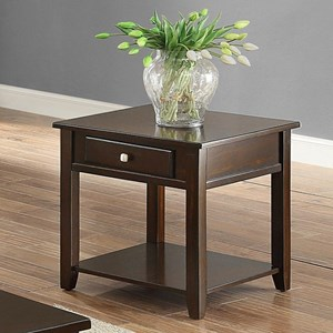 Drawer End Table with Lower Shelf
