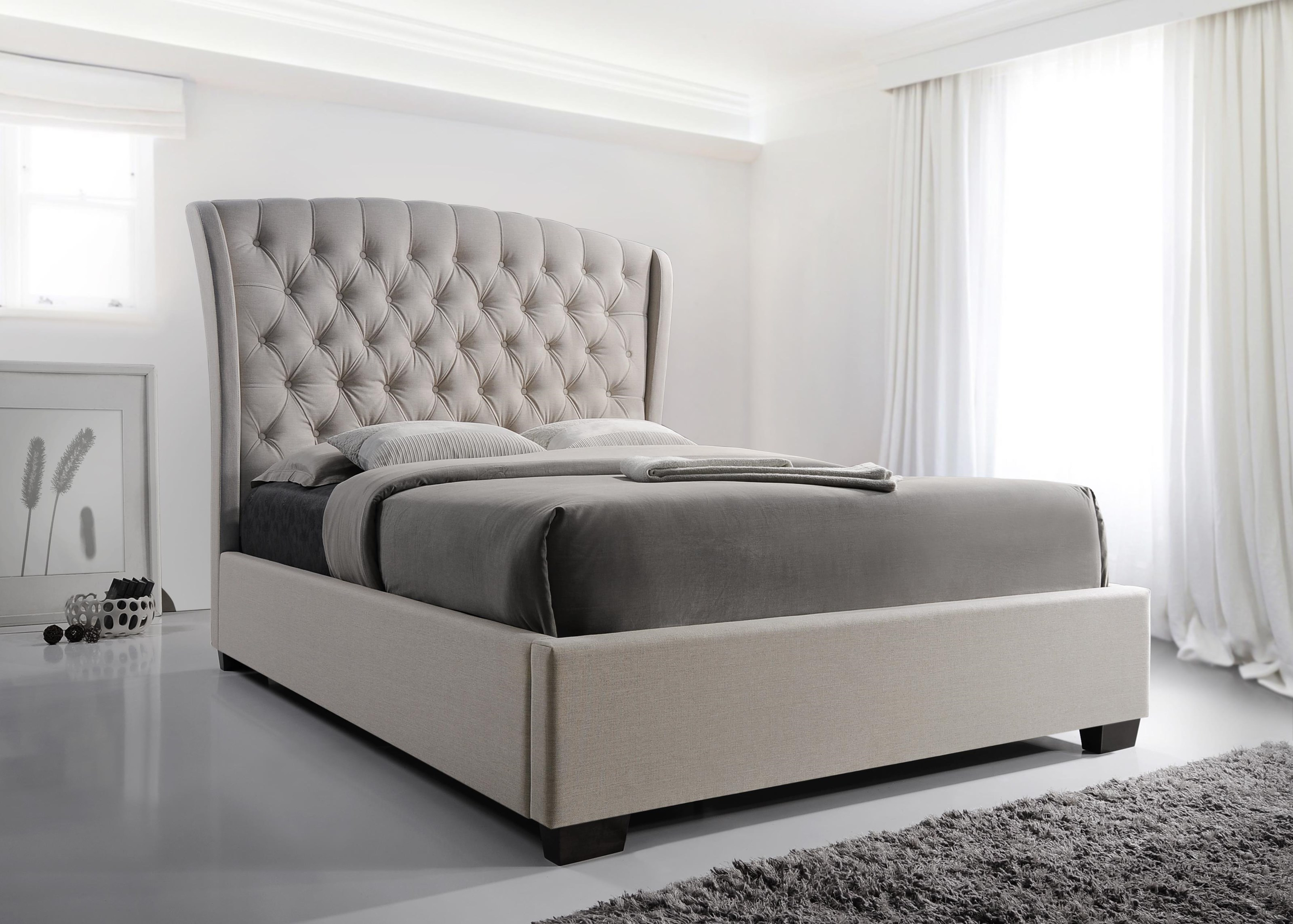 Kaitlyn Queen Size Upholstered Bed by Crown Mark at Darvin Furniture