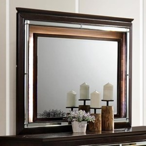 Dresser Mirror with Mirror Trim
