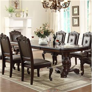 Traditional Double Pedestal Dining Table