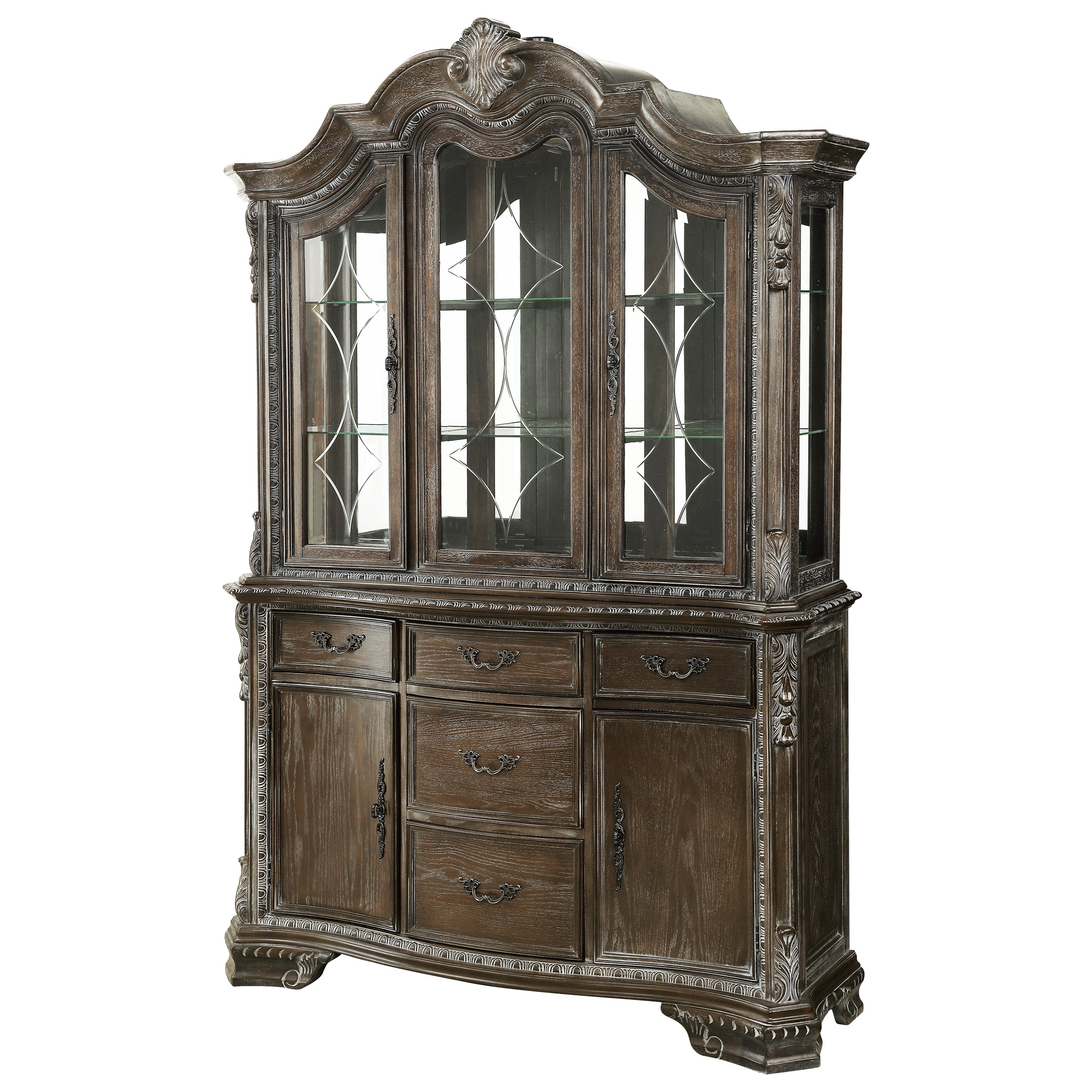 Kiera Buffet and Hutch by Crown Mark at Darvin Furniture