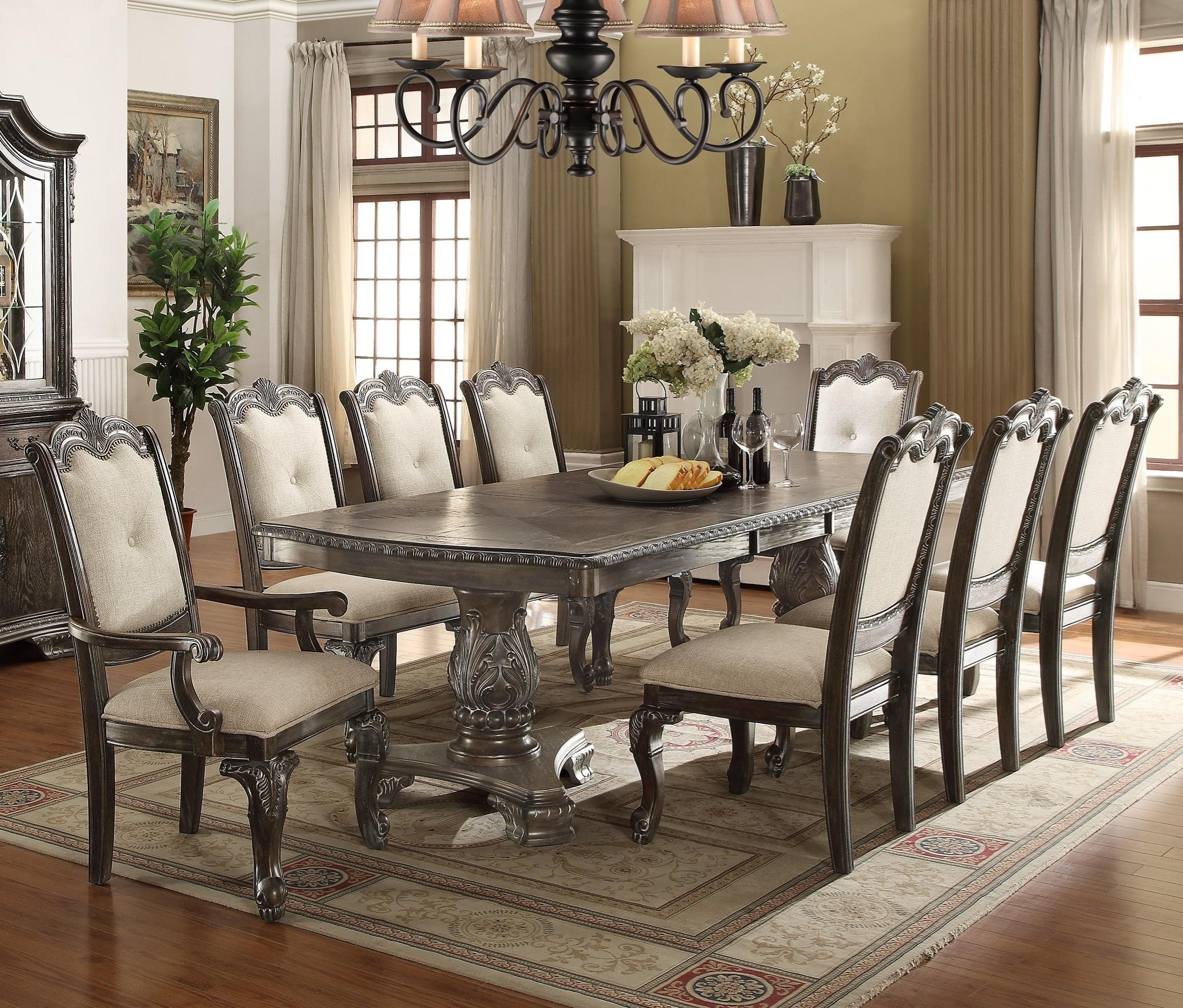 Kiera Dining Table Set by Crown Mark at Northeast Factory Direct