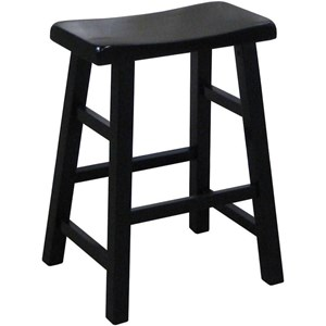 """Casual 24"""" Height Saddle Stool"""