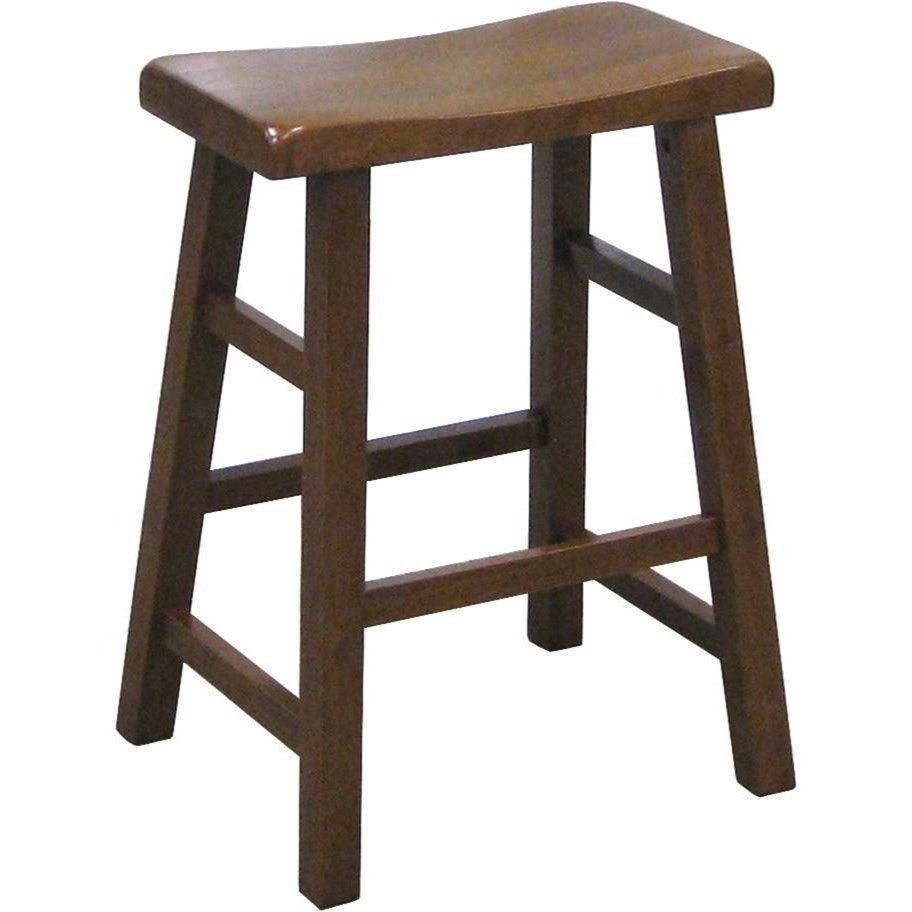 """Kirin 24"""" Height Saddle Stool by Crown Mark at Northeast Factory Direct"""