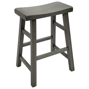"Casual 24"" Height Saddle Stool"