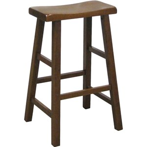 "Casual 29"" Height Saddle Stool Black"