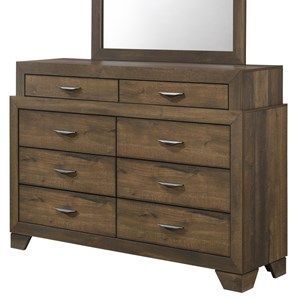 Contemporary Dresser with 8 Drawers