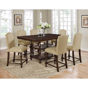 Traditional Counter Height Table Set