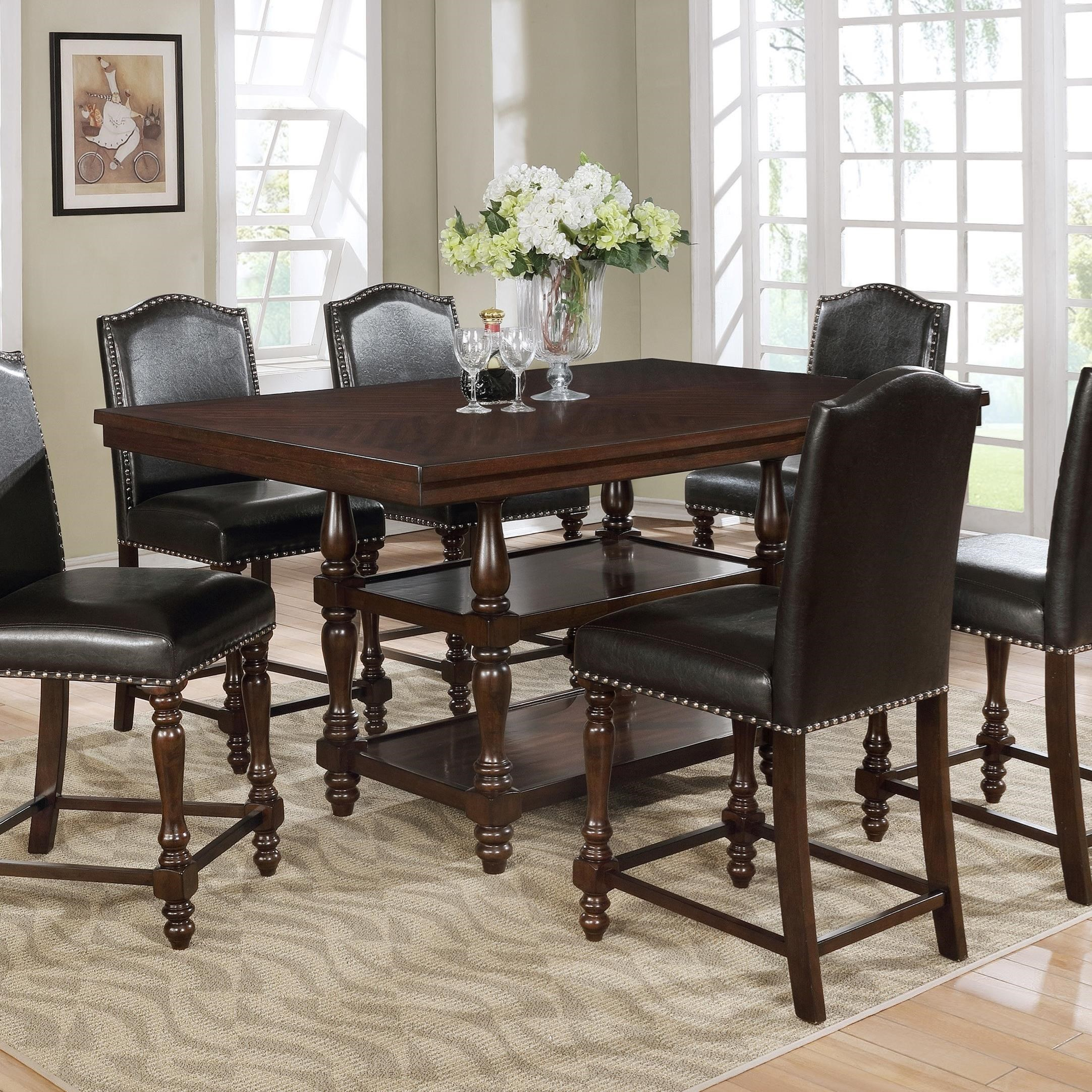 Langley Counter Height Table by Crown Mark at Northeast Factory Direct