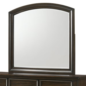 Traditional Dresser Mirror with Curved Top