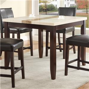 Square Counter Height Dining Table with Marble-Like Top