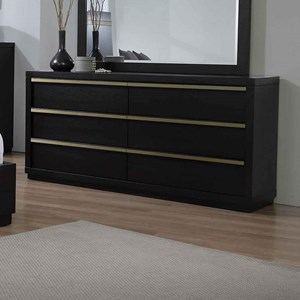 Contemporary 6-Drawer Dresser