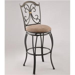 Upholstered Swivel Barstool