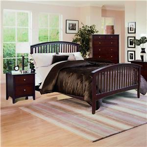 Crown Mark Lawson  King Slat Bed