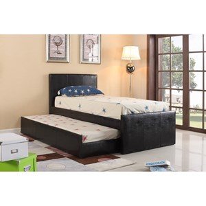 Twin Headboard and Footboard Bed with Trundle