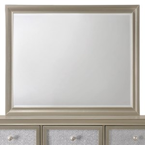 Glam Mirror with Wood Frame