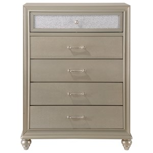 Glam Chest with Two-Toned Drawer Fronts