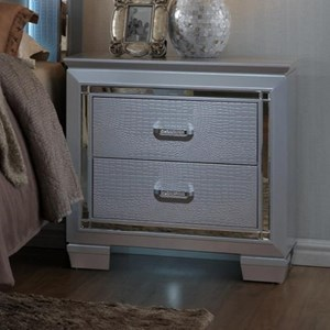 Glam Nightstand with Touch Night Light