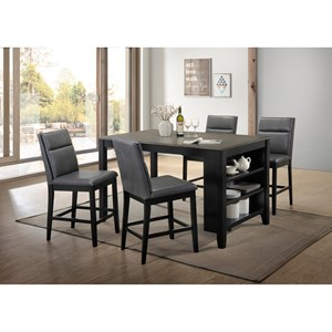 4 Piece Counter Height Craft Table and Upholstered Chair Set