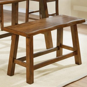 Casual Counter Height Bench with Footrest Stretcher