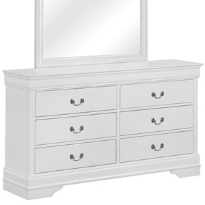 Traditional Dresser with 6 Drawers