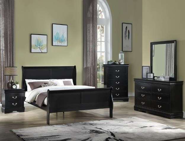 Louis Philippe Twin Panel Bed Package by Crown Mark at Sam Levitz Outlet