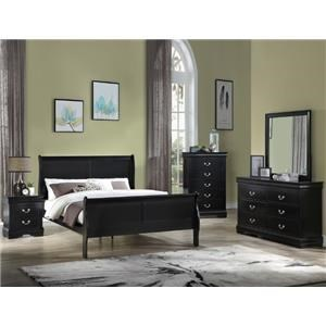 Queen Panel Bed, Nightstand and Chest Package