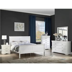 Full Panel Bed, Nightstand and Chest Package
