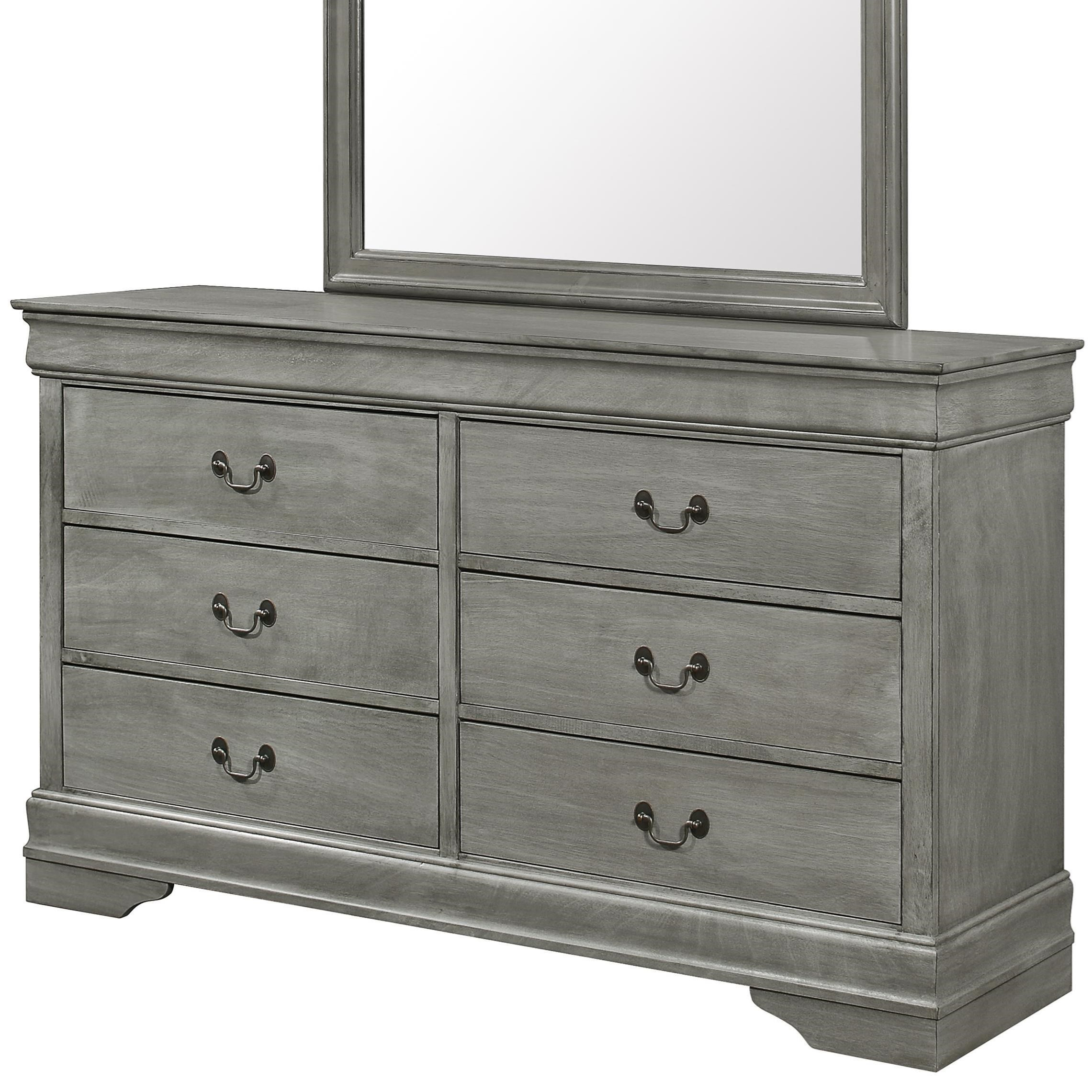 Louis Philip 6 Drawer Dresser by Crown Mark at Northeast Factory Direct