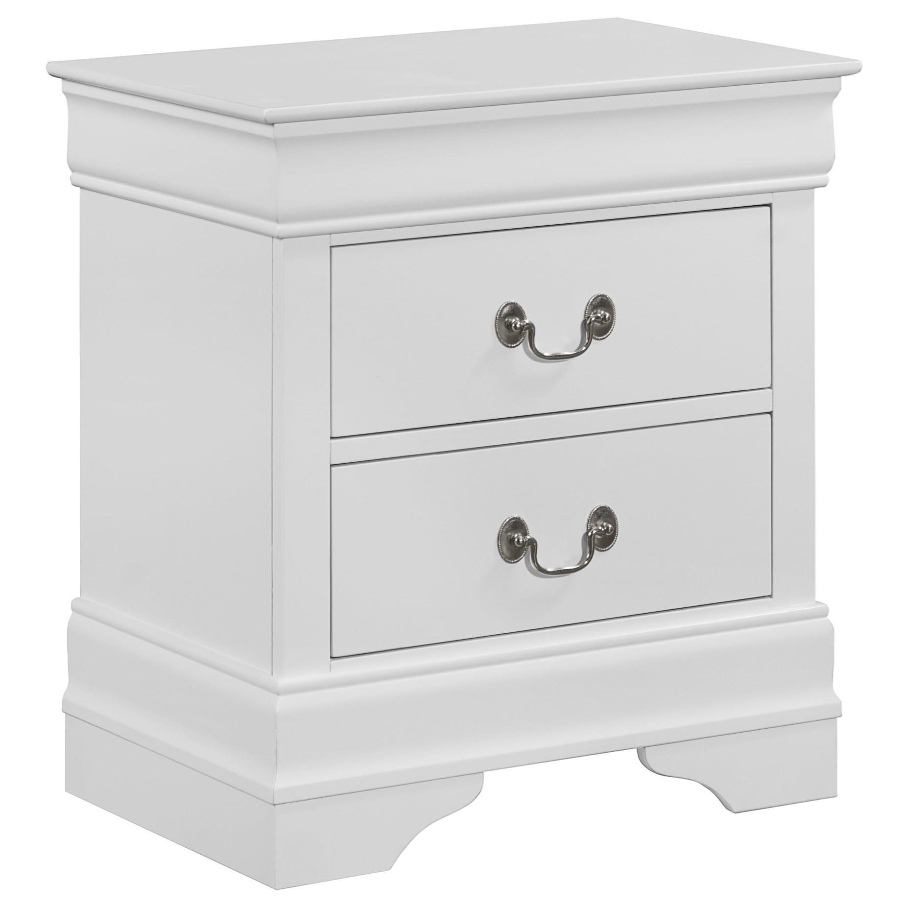 Louis Philip 2 Drawer Nightstand by Crown Mark at Northeast Factory Direct
