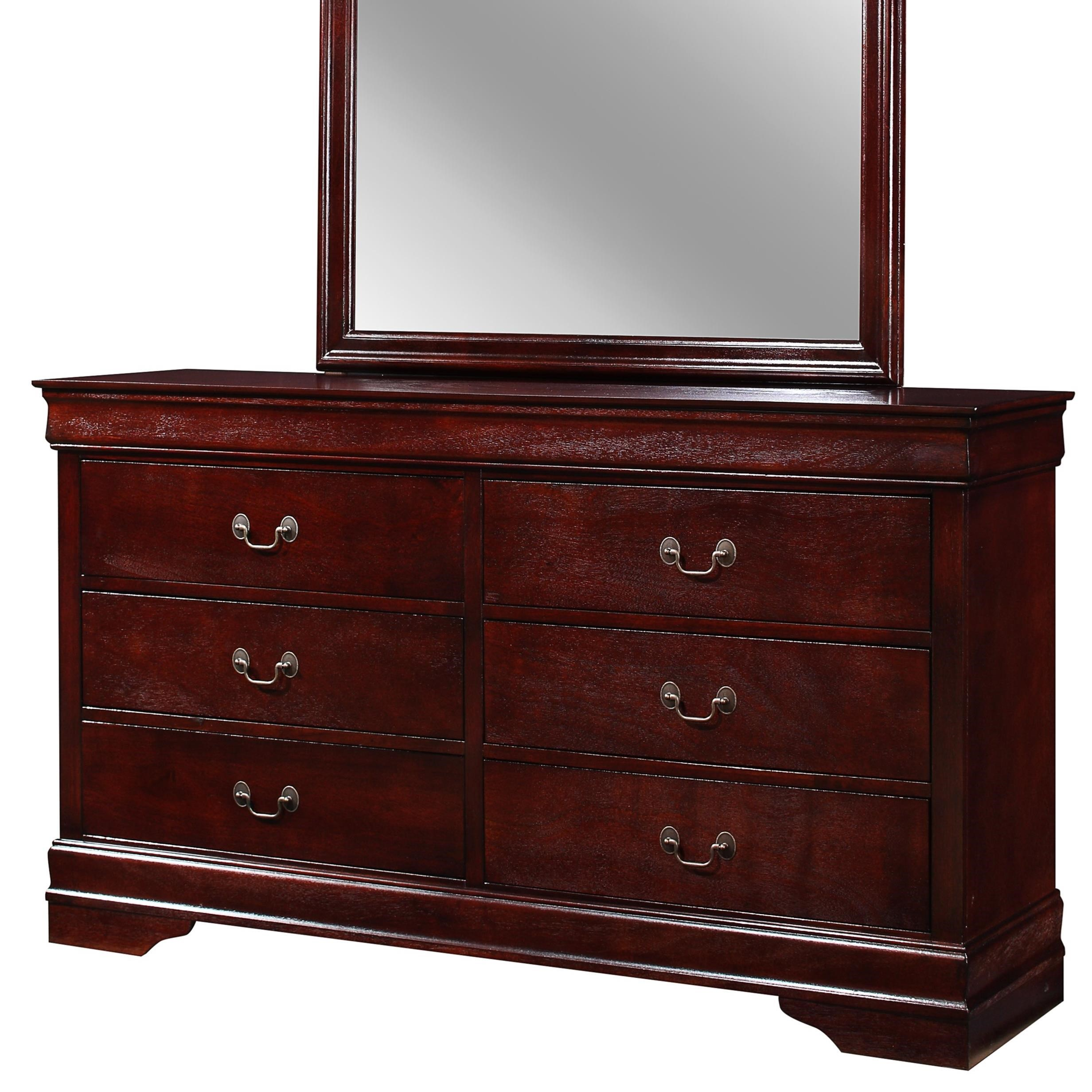 Louis Philip 6 Drawer Dresser by Crown Mark at Catalog Outlet