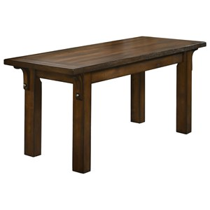 Traditional Dining Bench with Curved Supports