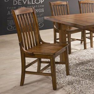 Traditional Slat Back Dining Chair