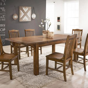 Traditional Dining Room Table with Curved Supports
