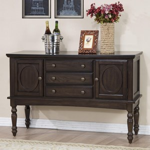 Sideboard with Turned Legs