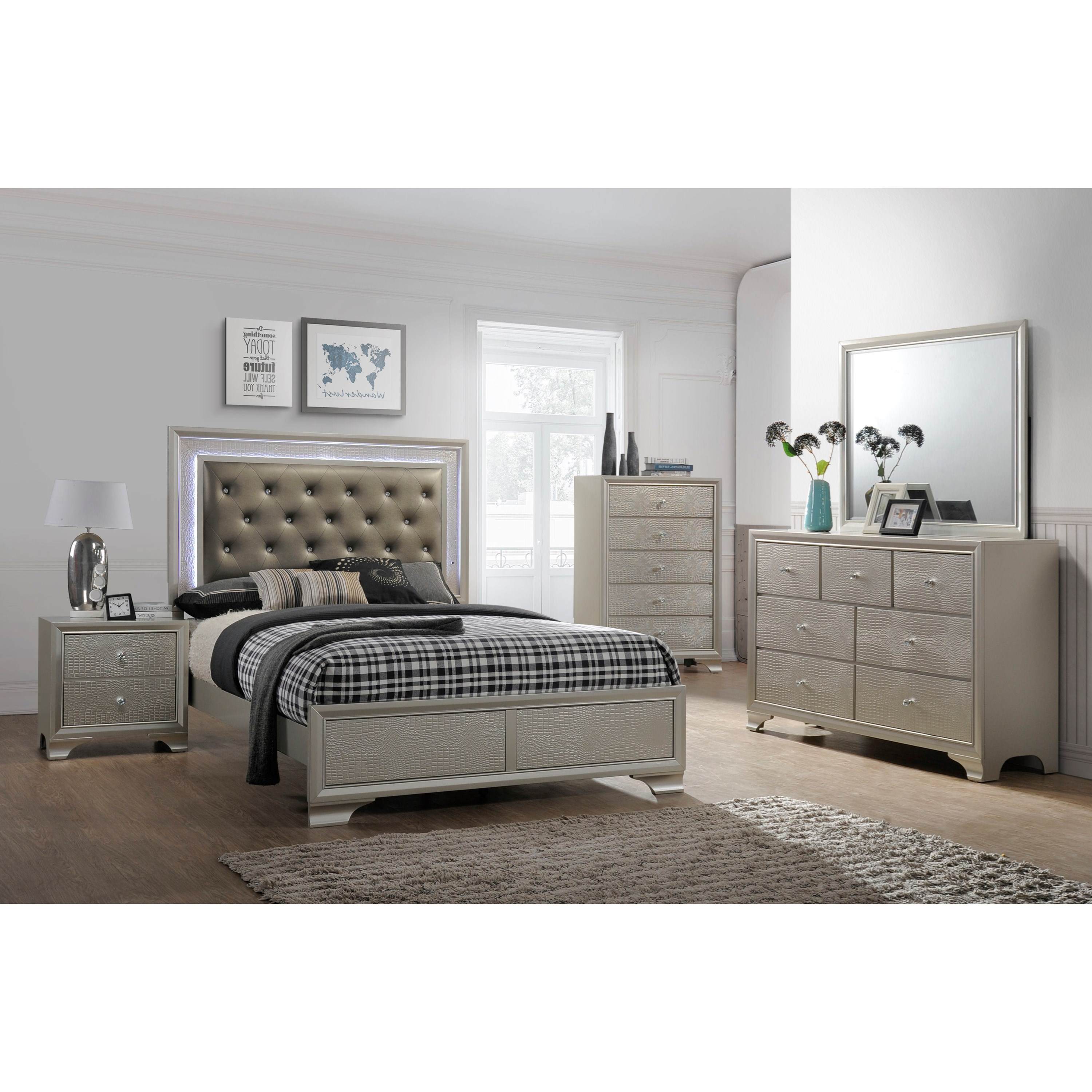 Lyssa Twin Bedroom Group by Crown Mark at Northeast Factory Direct