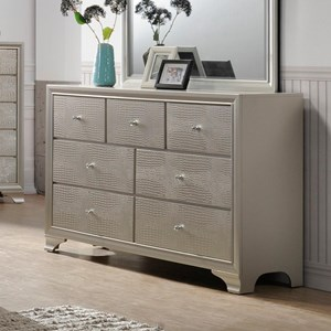 Glam Seven Drawer Dresser
