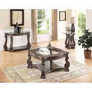 Traditional 3 Piece Occasional Table Group